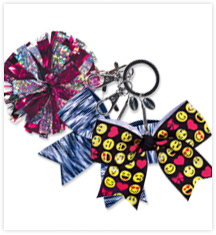 Cheerleading Mini Bow Keychains