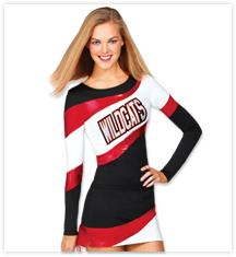 Showtime Metallic Stretch Cheerleading Uniforms